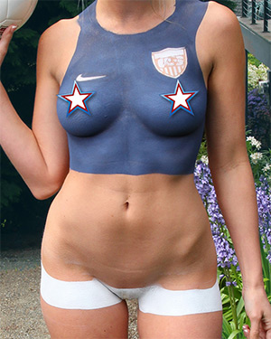 Brooke Marks World Cup Body Paint Premium Wins