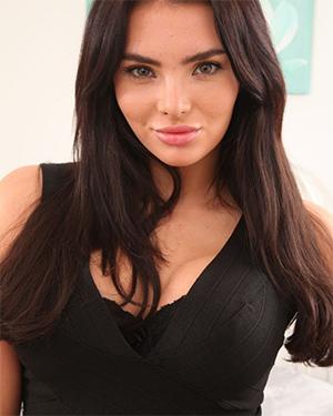 Clare K Black Dress Boobs