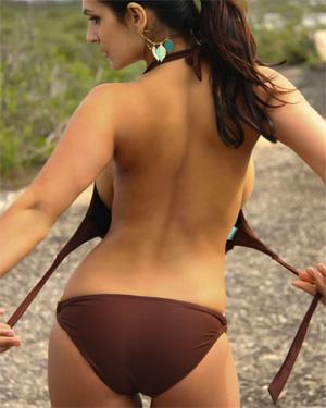 Denise Milani Brown Bikini