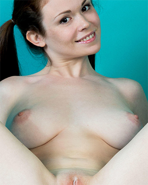Estelle Busty Girl With Pigtails