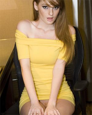 Faye Reagan Yellow Dress Beauty