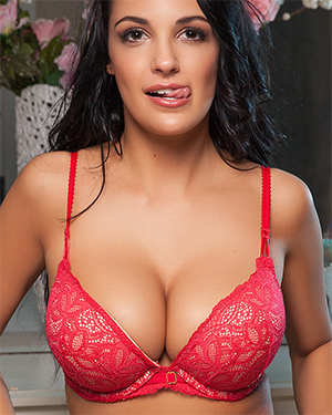Hailey Lynzz Red Lingerie Playmate