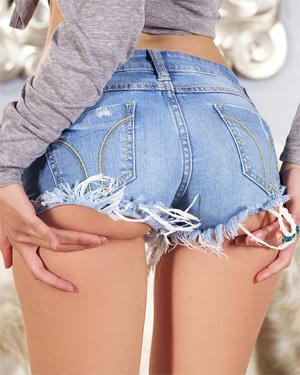 Iana Little Denim Bubble Butt
