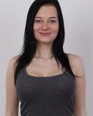 Jana Sexy Brunette Czech Casting