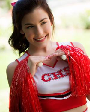 Jenna Reid Frisky Cheerleader