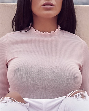 Jessie Boulevard Big Tits Tight Sweater