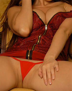 Kt So Legs Up Red Thong