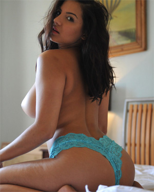 Lacey Banghard Blue Bed
