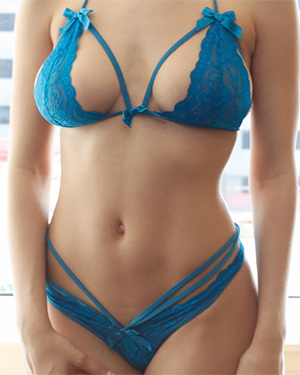 Lana Rhoades Blue Lingerie Passion HD