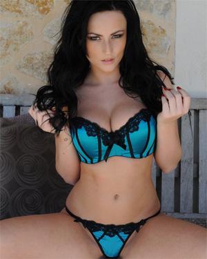 Lauren Wood Blue Bikini