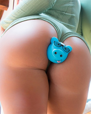 Layla Price Has Got a Piggy Butt Plug