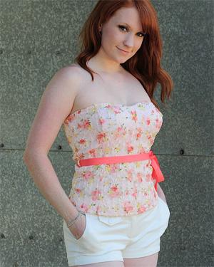 Lucy Ohara White Shorts