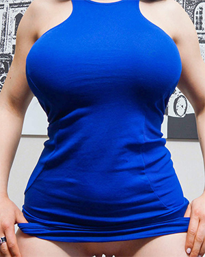 Marta La Croft Blue Dress Curves