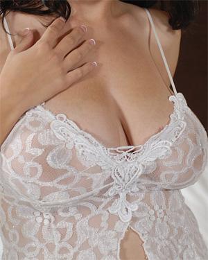 Meshell Sheer Bedroom Boobs