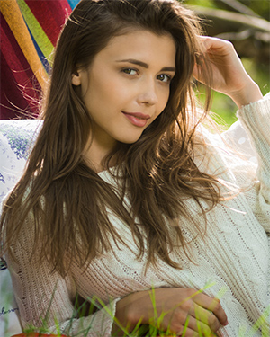 Mila Azul Gets Naked In The Meadow