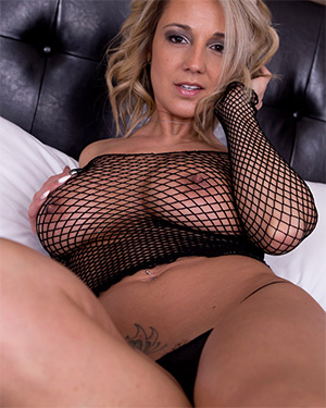 Nikki Sims Black Mesh Boobs