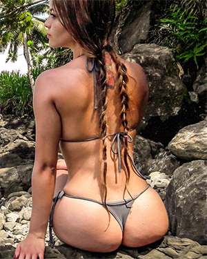 Pamela Jay String Bikini Candids