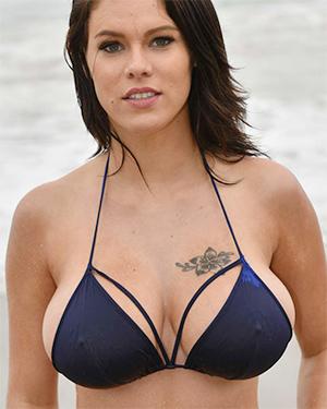 Peta Jensen sexy blue bikini babe