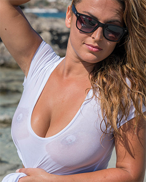 Sarah P Wet Shirt Real Bikini Girls