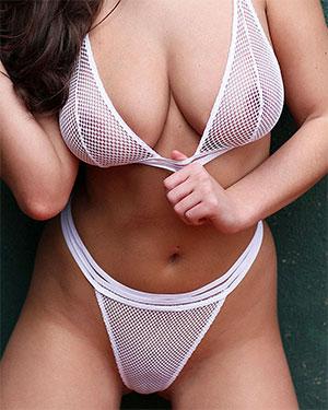 Sarah McDonald See Thru Bikini