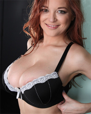 Tessa Fowler White Lace Black Bra