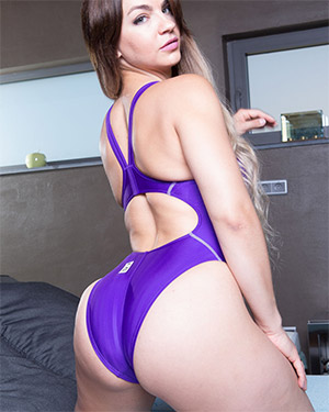 Valentina Sexy Purple Swimsuit Heaven